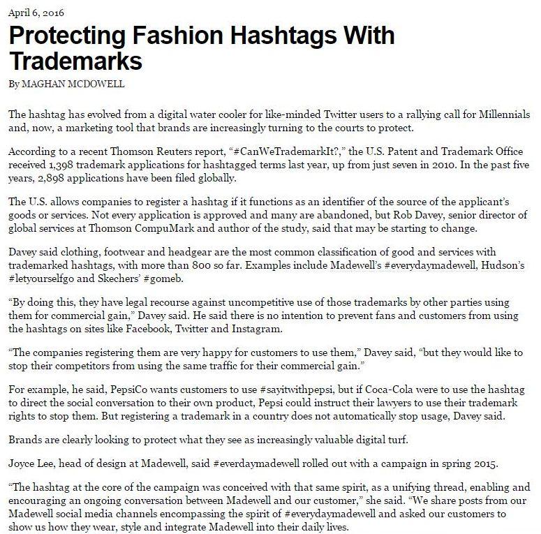 Hand Baldachin Associates Llp Protecting Fashion