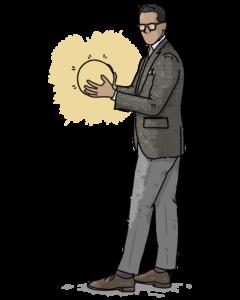 illustration man w/ idea